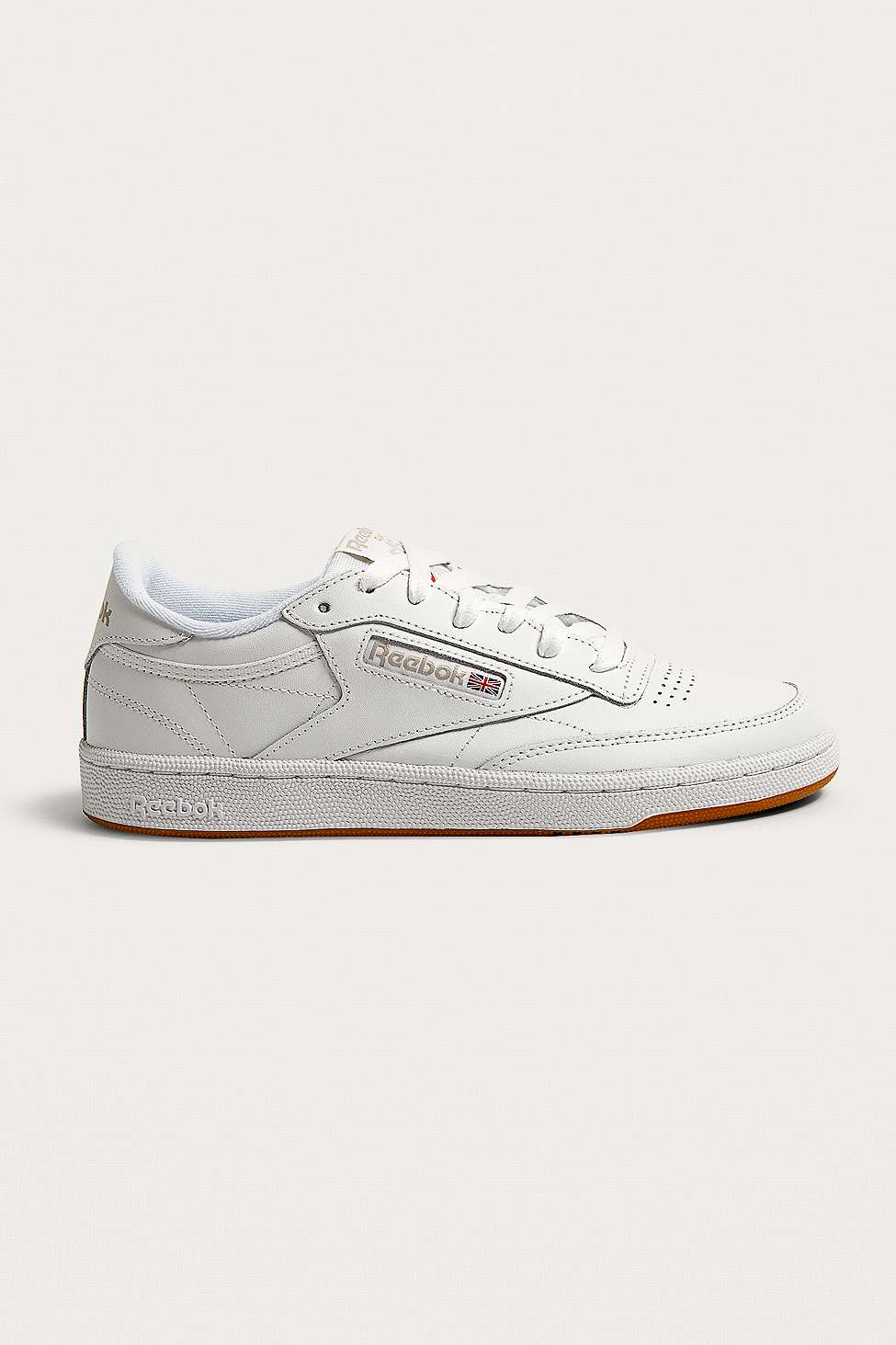 Classic Club C 85 Trainers In White And Gum - White Reebok