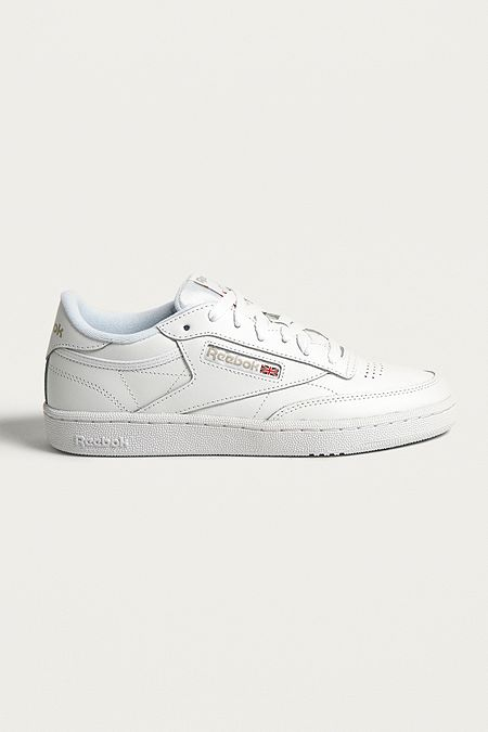 6aaa575bc2d Reebok Club C 85 White on White Leather Trainers. Quick Shop