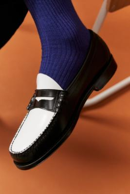 G.H. Bass Black & White Weejuns Penny Loafers - Black UK 11 at Urban Outfitters