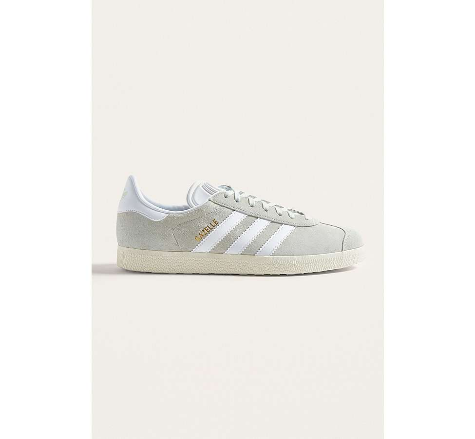 Slide View: 1: adidas Gazelle Light Green Trainers
