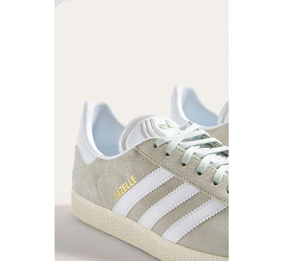 Slide View: 3: adidas Gazelle Light Green Trainers