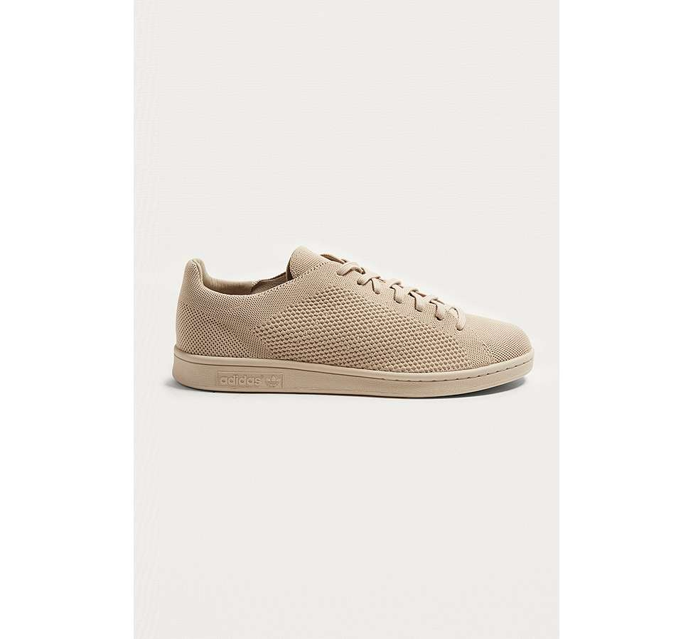 Slide View: 1: adidas Stan Smith Tan Primeknit Trainers