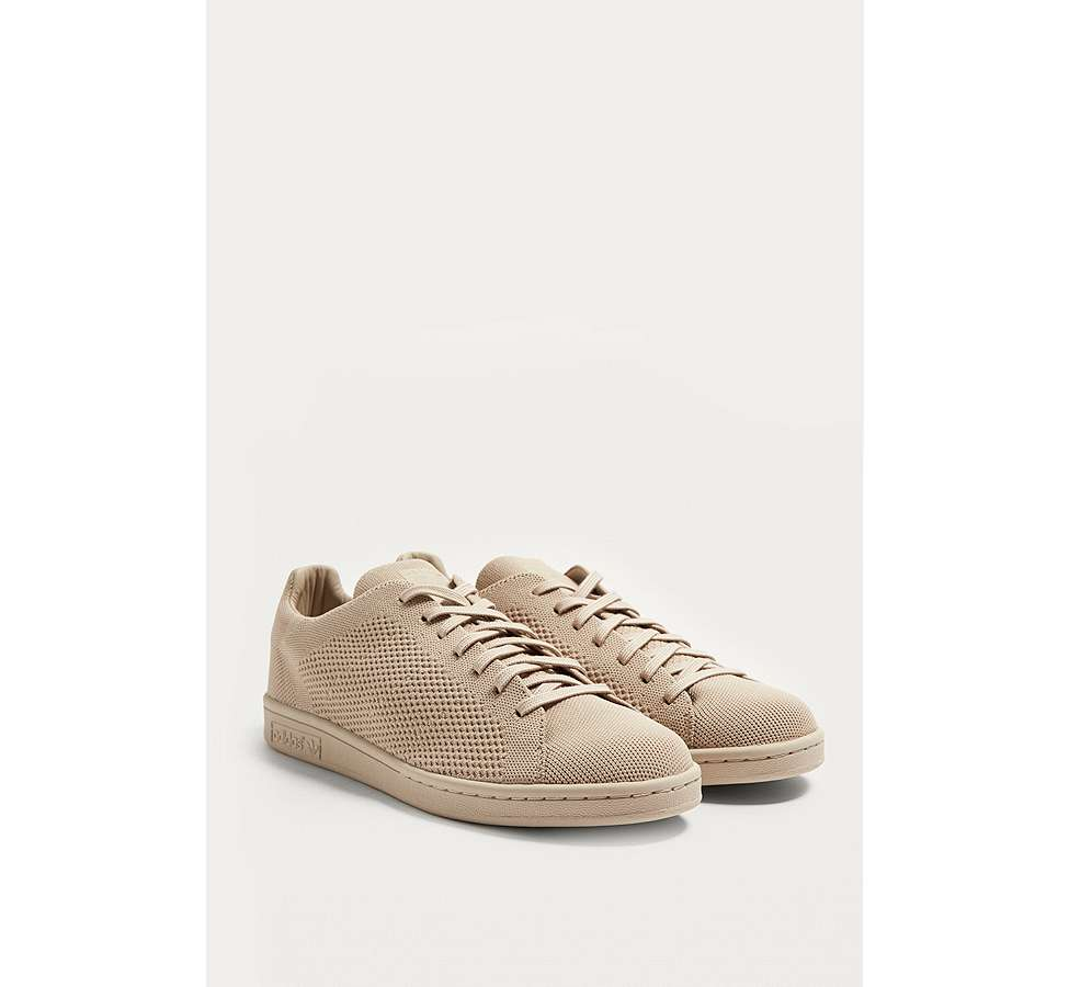 Slide View: 2: adidas Stan Smith Tan Primeknit Trainers