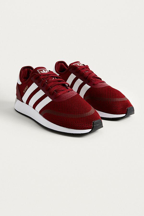 maroon adidas trainers