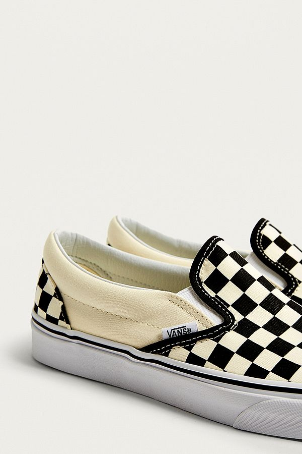 vans checkerboard slip on trainers