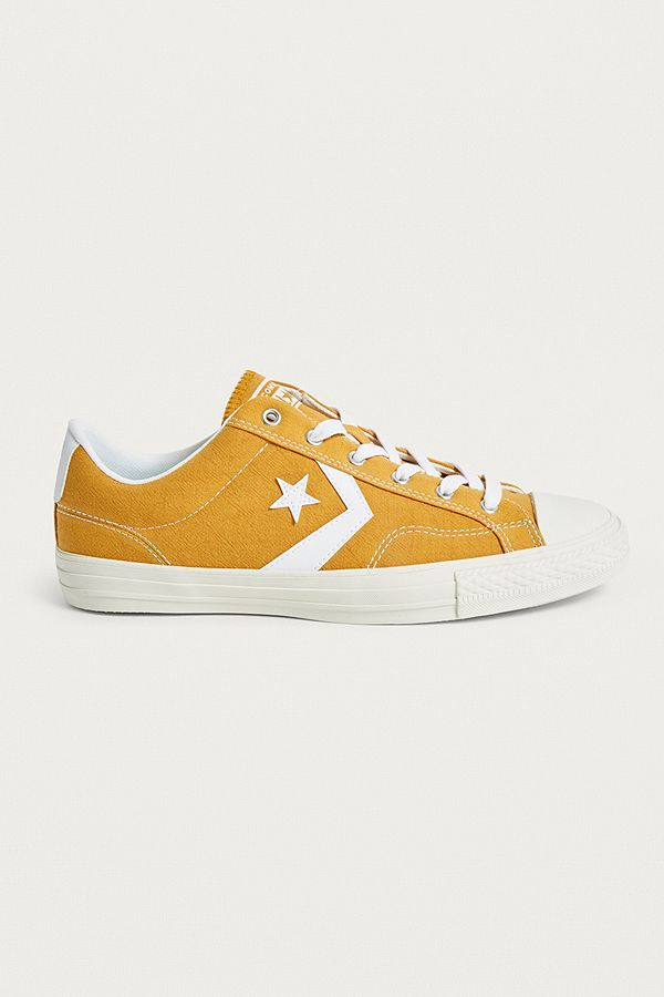 Slide View  1  Converse One Star Gold Trainers 530e964b4