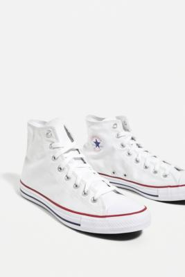 Converse Chuck Taylor All Star White Canvas High Top Trainers - White UK 8 at Urban Outfitters