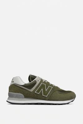 New Balance 574 Olive Trainers - Green UK 9 at Urban Outfitters