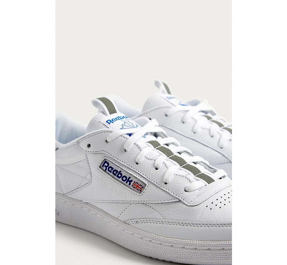 Slide View: 3: Reebok Club C 85 RT White Trainers