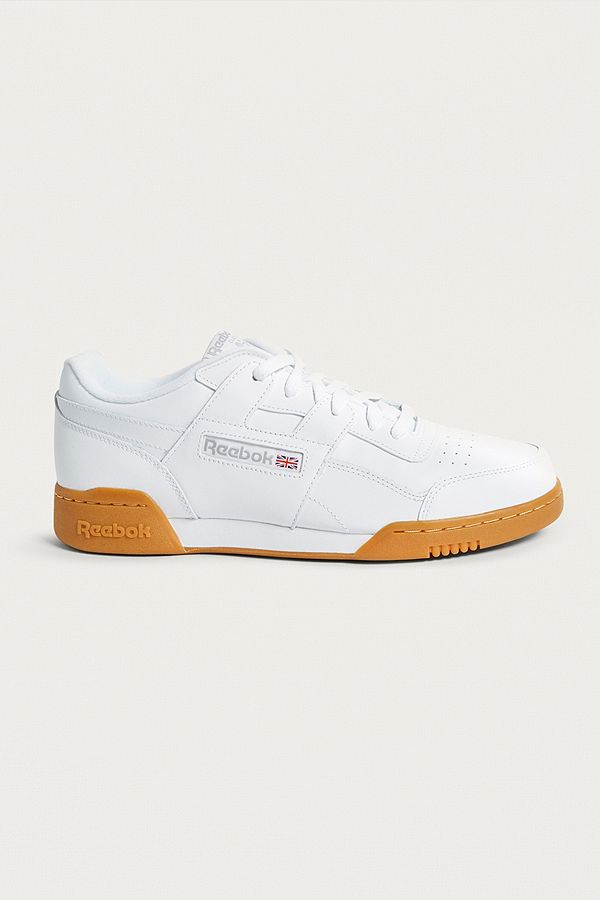 9160ccc83b5 Reebok Workout Plus White and Red Trainers