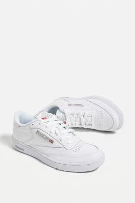 Reebok Club C 85 Grey Trainers - White UK 8 at Urban Outfitters