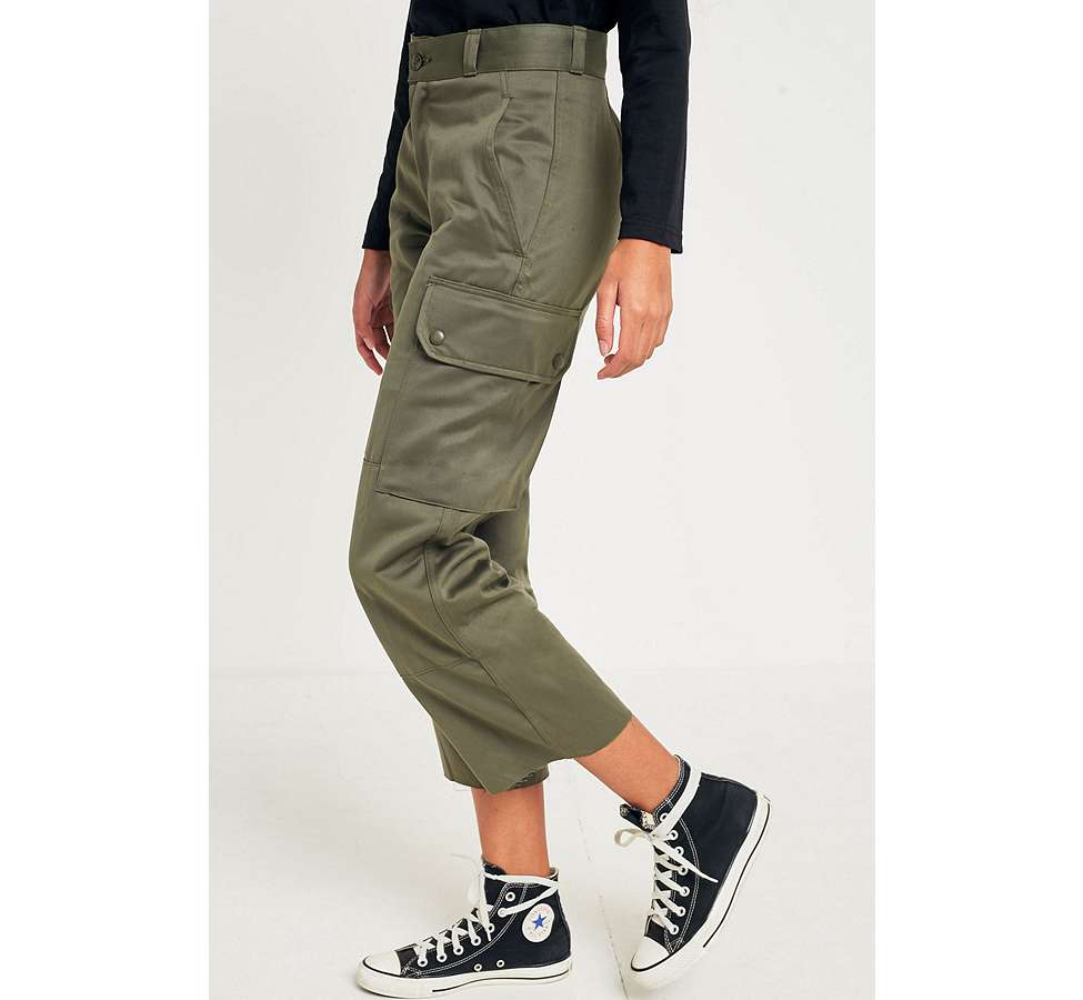 Slide View: 5: Urban Renewal Vintage Customised Military Cargo Trousers