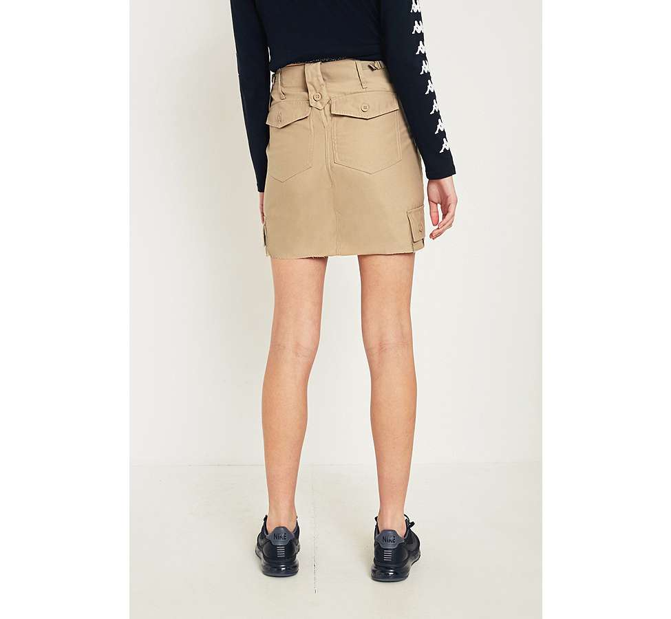 Slide View: 5: Urban Renewal Vintage Customised Khaki Military Cargo Skirt