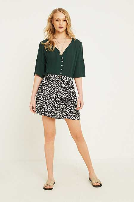 Urban Renewal Vintage Remnants Floral Flippy Mini Skirt