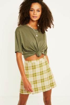 Urban Renewal Vintage Remnants Checked Pelmet Skirt by Urban Renewal Vintage
