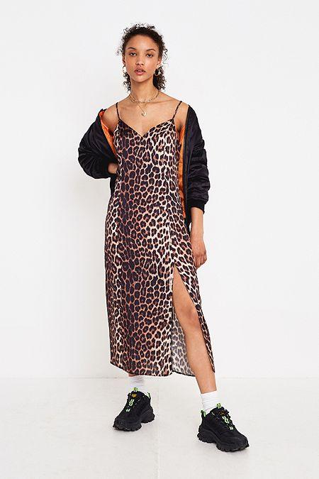 Urban Renewal Vintage Remnants Leopard Print Cowl Dress  9b93cac33