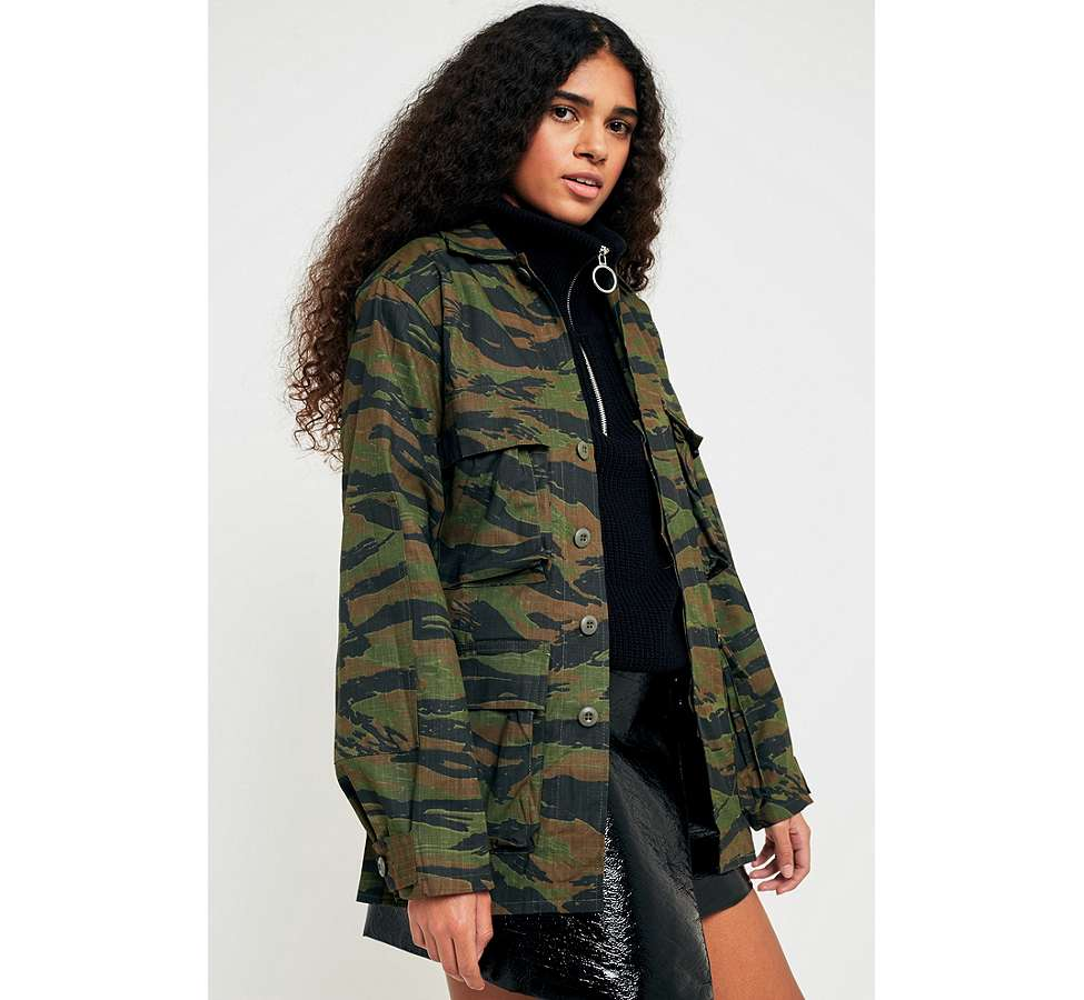 Slide View: 1: Urban Renewal Vintage Surplus Camo Jacket