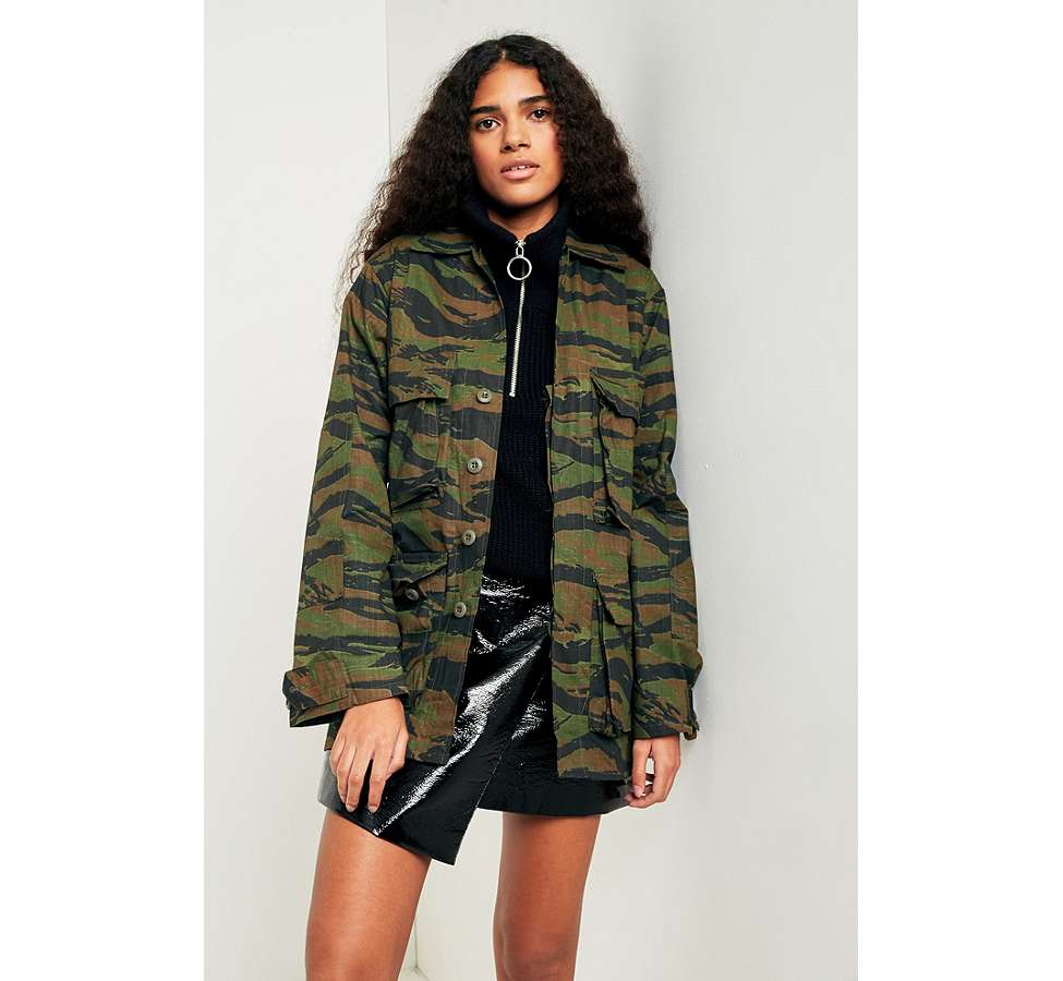 Slide View: 6: Urban Renewal Vintage Surplus Camo Jacket