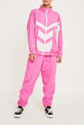 Urban Renewal Vintage One Of A Kind Pink And White Shell Suit by Urban Renewal Vintage