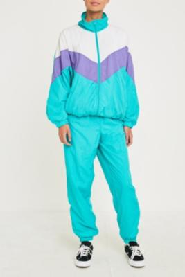 Urban Renewal Vintage One Of A Kind Blue And Purple Shell Suit by Urban Renewal Vintage