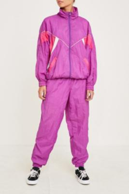 Urban Renewal Vintage One Of A Kind Purple And Pink Shell Suit by Urban Renewal Vintage