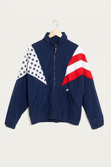 "Urban Renewal Vintage One-Of-A-Kind – Windjacke ""American Flag"" f3e8538e42"
