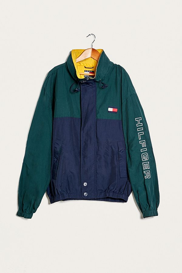 Urban Renewal Vintage One-of-a-Kind Tommy Hilfiger Blue and Green ... 492be6b89a