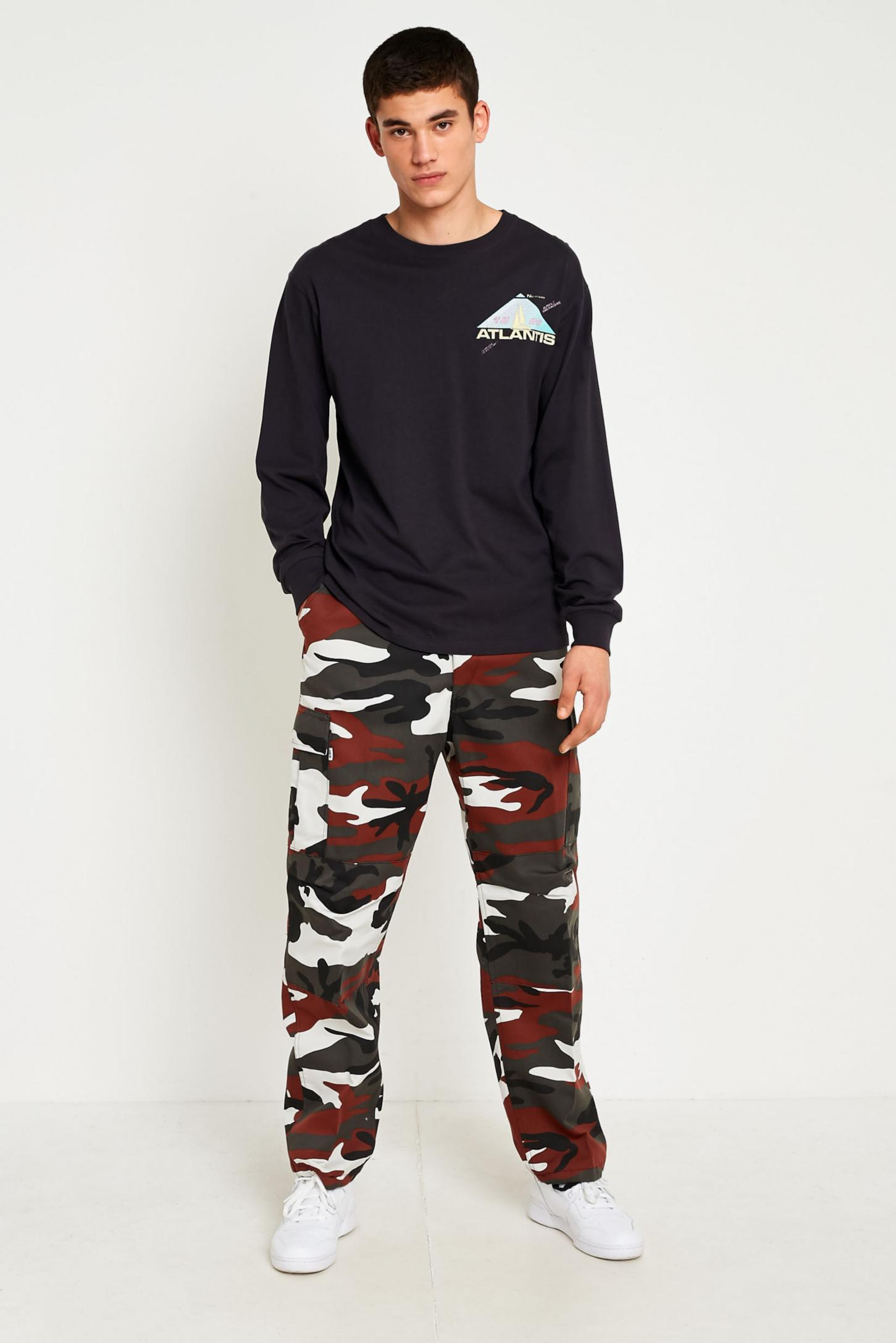 Urban Renewal Vintage Originals Red Camo Trousers