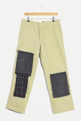 Urban Renewal Remade From Vintage Dickies Patchwork Trousers - Assorted S at Urban Outfitters