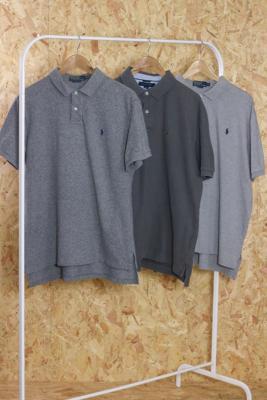 Urban Renewal Vintage Ralph Lauren Men's Grey Polo Shirt - Grey S/M at Urban Outfitters