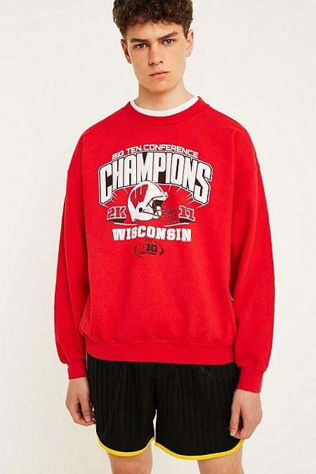 ed66339d90452 Urban Renewal Vintage Originals USA Sports Red Sweatshirt