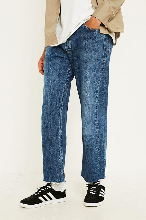 Urban Renewal Vintage Customised Levis 501 Raw Edge Jeans Urban