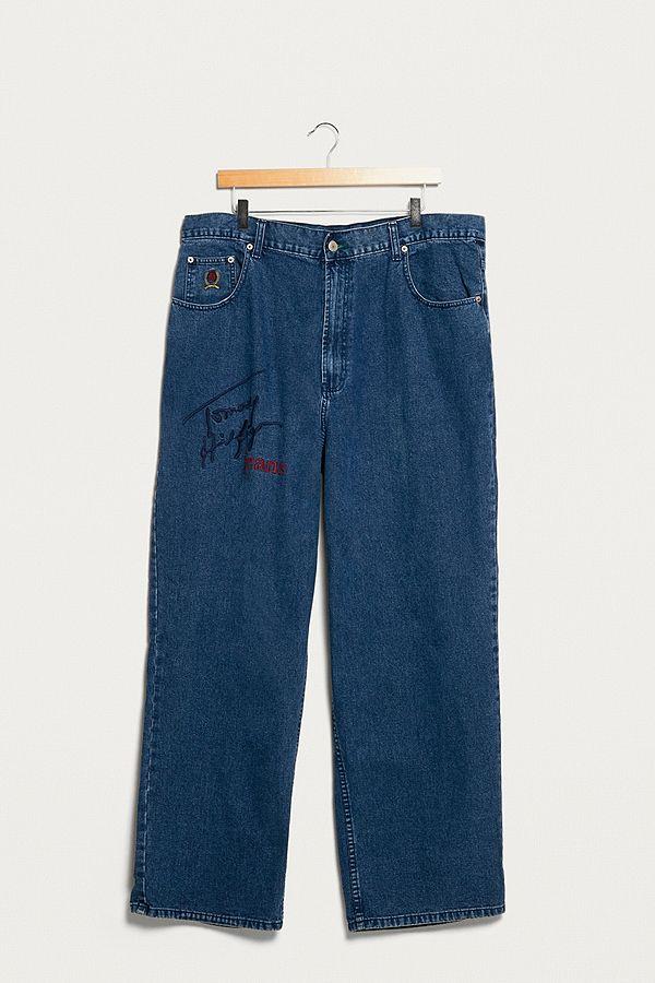 urban renewal vintage one of a kind tommy hilfiger patch jeans