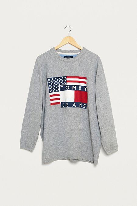 d4d05b26eaf Urban Renewal Vintage One-of-a-Kind Tommy Hilfiger USA Sweatshirt