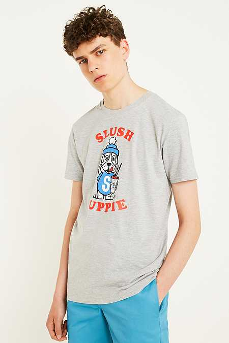 "Urban Renewal Vintage Surplus – T-Shirt ""SLUSH PUPPiE"" in Grau"