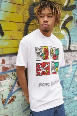 T-Shirt\u00a0Squares Keith Haring - Urban Outfitters Archive - Modalova