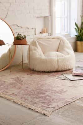 Sami 5x7 Floral Printed Sand Rug by Urban Outfitters