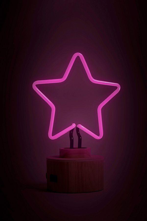 gingersnap lampe de bureau n on en forme d 39 toile rose urban outfitters. Black Bedroom Furniture Sets. Home Design Ideas