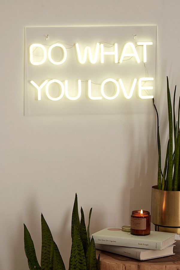 Do what you love neon wall light urban outfitters aloadofball Image collections