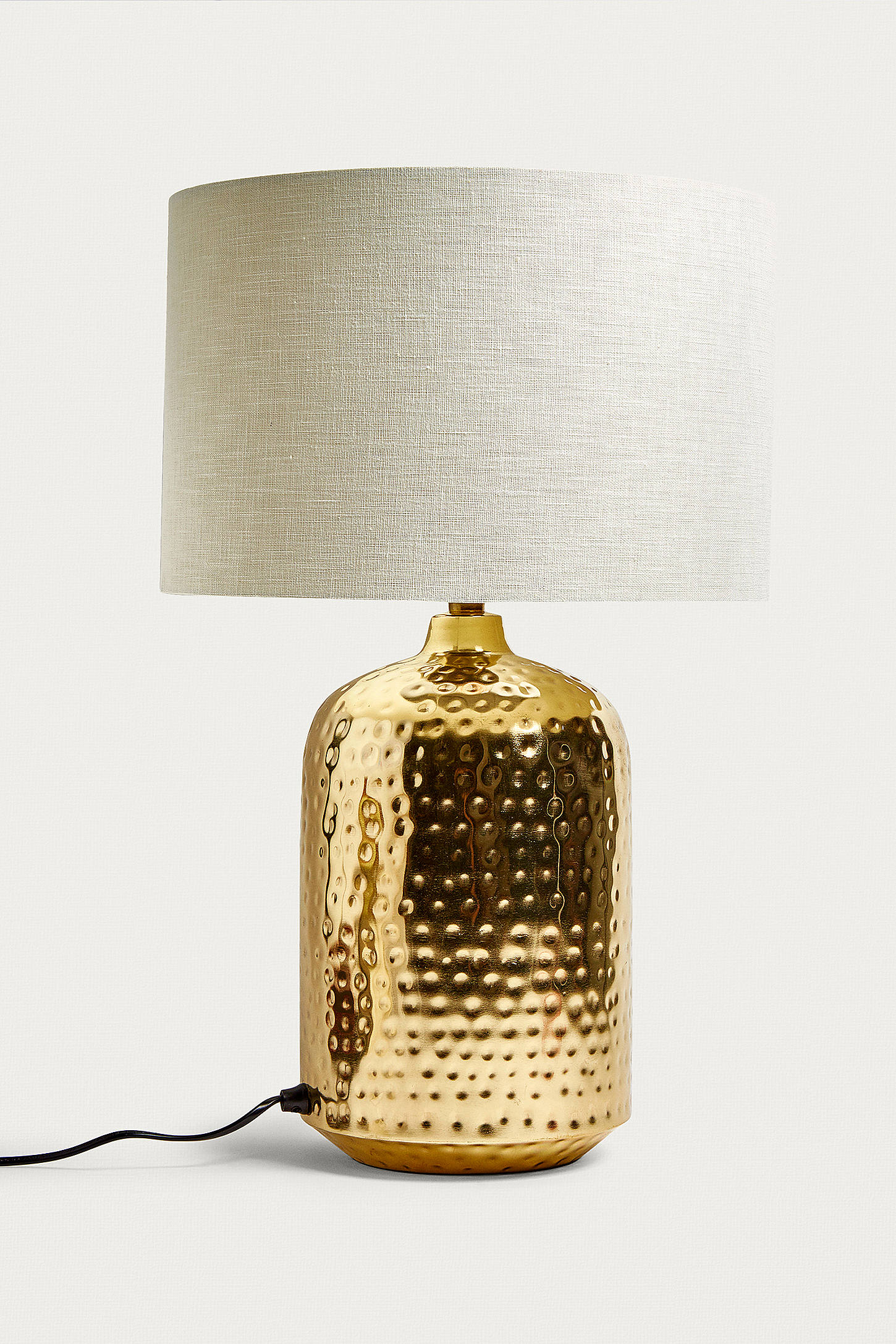 Hammered gold table lamp urban outfitters slide view 3 hammered gold table lamp geotapseo Gallery