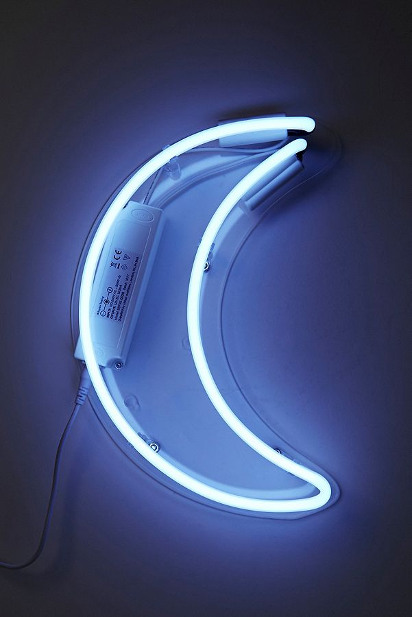 Crescent moon neon wall light urban outfitters slide view 2 crescent moon neon wall light aloadofball Image collections