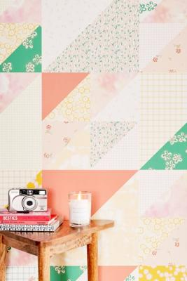 Floral Tie-Dye Removable Wallpaper - Pink ALL at Urban Outfitters