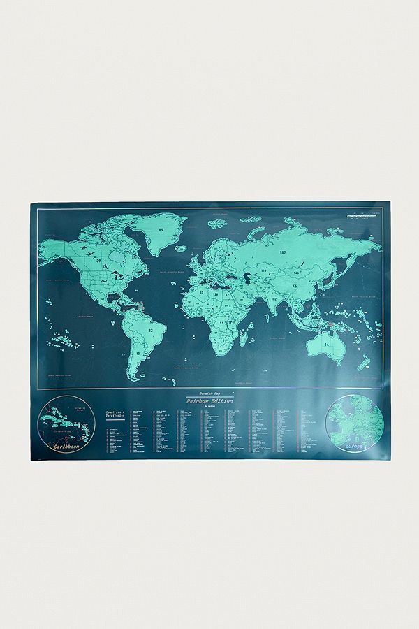 Rainbow World Scratch Map Urban Outfitters Uk