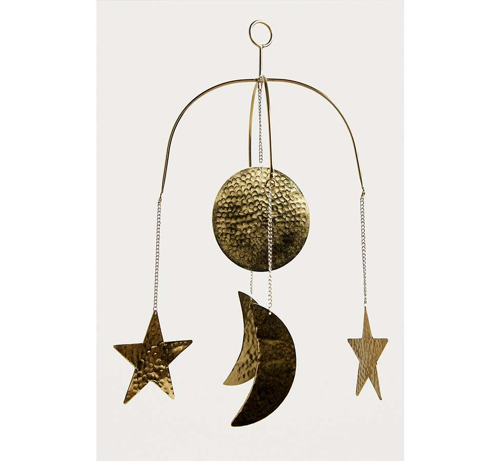 Slide View: 2: Crescent Moon Hanging Mobile