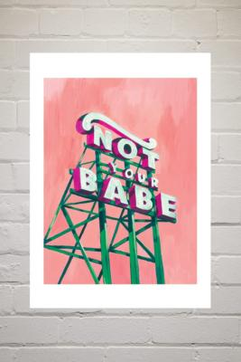 Sophie Ward Not Your Babe Wall Art Print - assorted 2 at Urban Outfitters