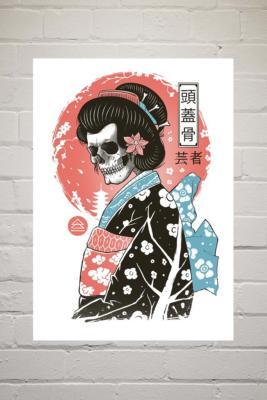 Vincent Trinidad Yokai Geisha Wall Art Print - Assorted 2 at Urban Outfitters