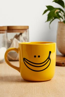 Banana Smile Face Mug by Urban Outfitters