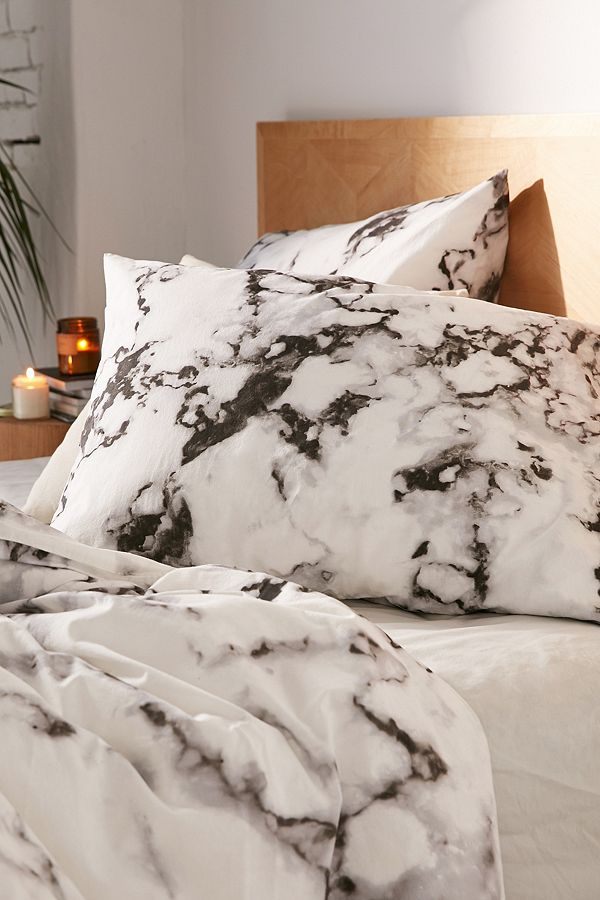 Marble Print Duvet Cover Set Urban Outfitters