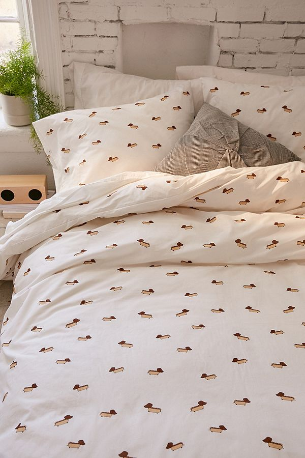 sausage dog duvet cover set urban outfitters
