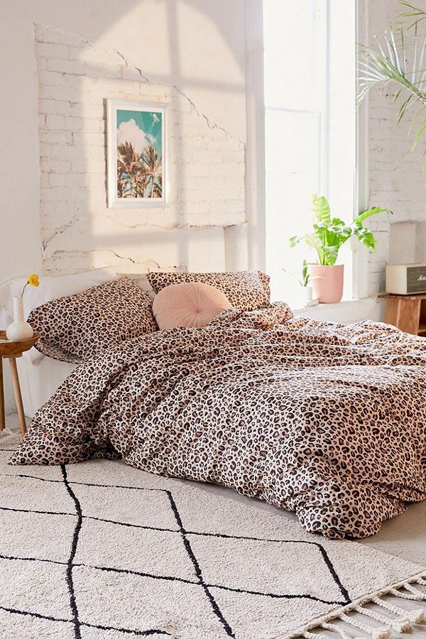 Leopard Print Duvet Cover Set Urban Outfitters